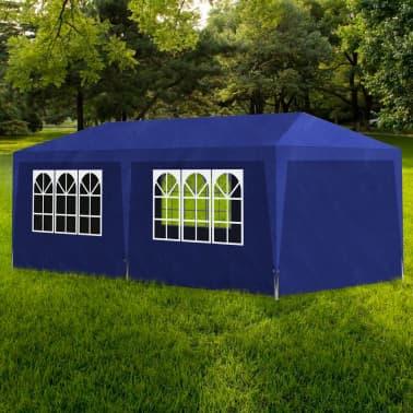 vidaXL Partytent met 6 wanden 3x6 m blauw[1/6]