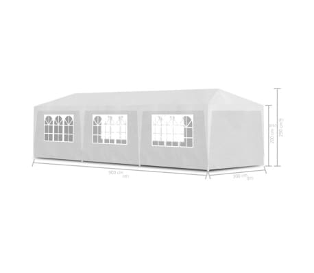 vidaXL vidaXL Party Tent 3x9 m White[6/6]