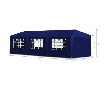 vidaXL Party Tent 10'x30' Blue[6/6]