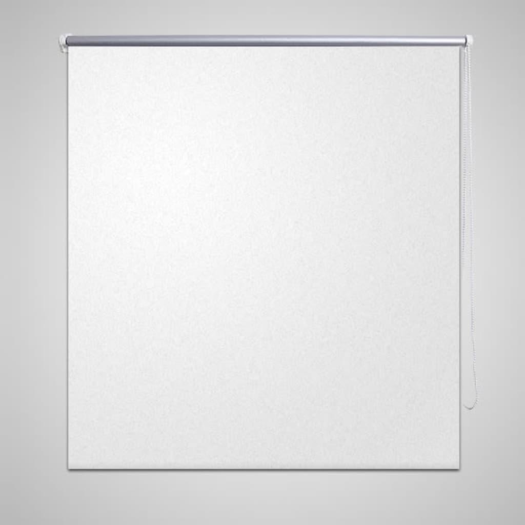 vidaXL Rullegardin blackout 140 x 175 cm Hvit