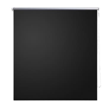 vidaXL Rolgordijn verduisterend 80x230 cm zwart[2/4]