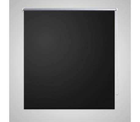 vidaXL Rolgordijn verduisterend 80x230 cm zwart[1/4]