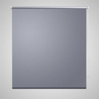 Roller Blind Blackout 120 x 230 cm Grey[1/4]