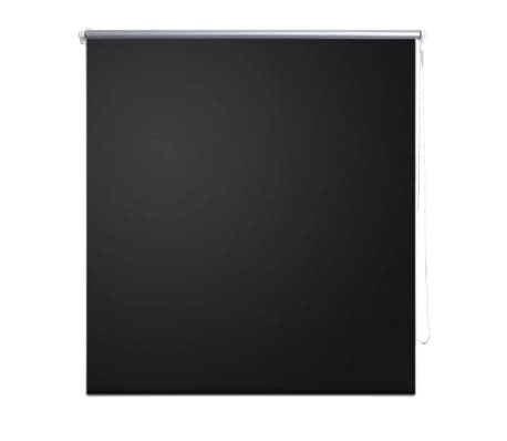 Roller blind blackout 160 x 230 cm black
