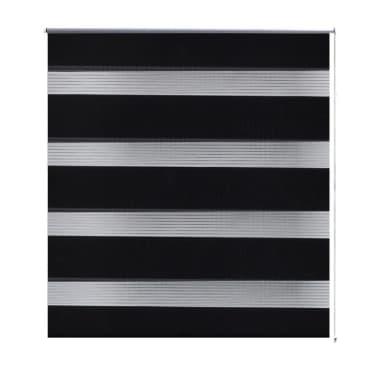 Roleta den a noc / Zebra / Twinroll 40x100 cm černá[2/6]