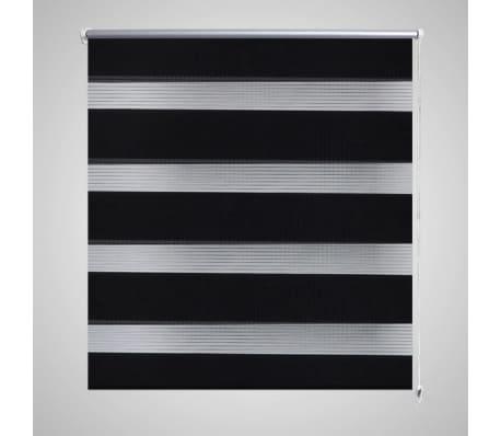 vidaXL Persiana Enrollable Modelo Cebra de Diferentes Dimensiones Color Negro