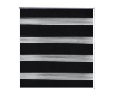 Roleta den a noc / Zebra / Twinroll 70x120 cm černá