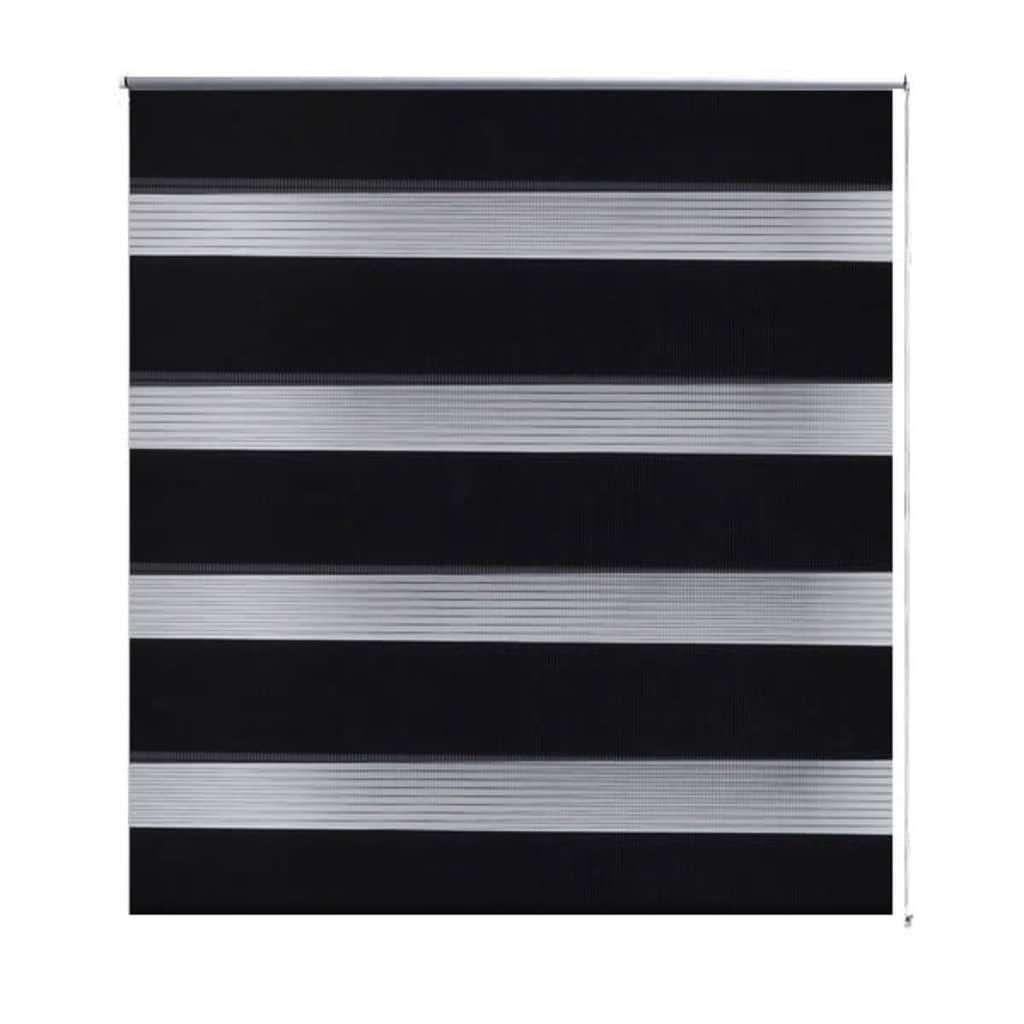vidaXL Σύστημα Σκίασης Ρόλερ Zebra Μαύρο 80 x 150 εκ.