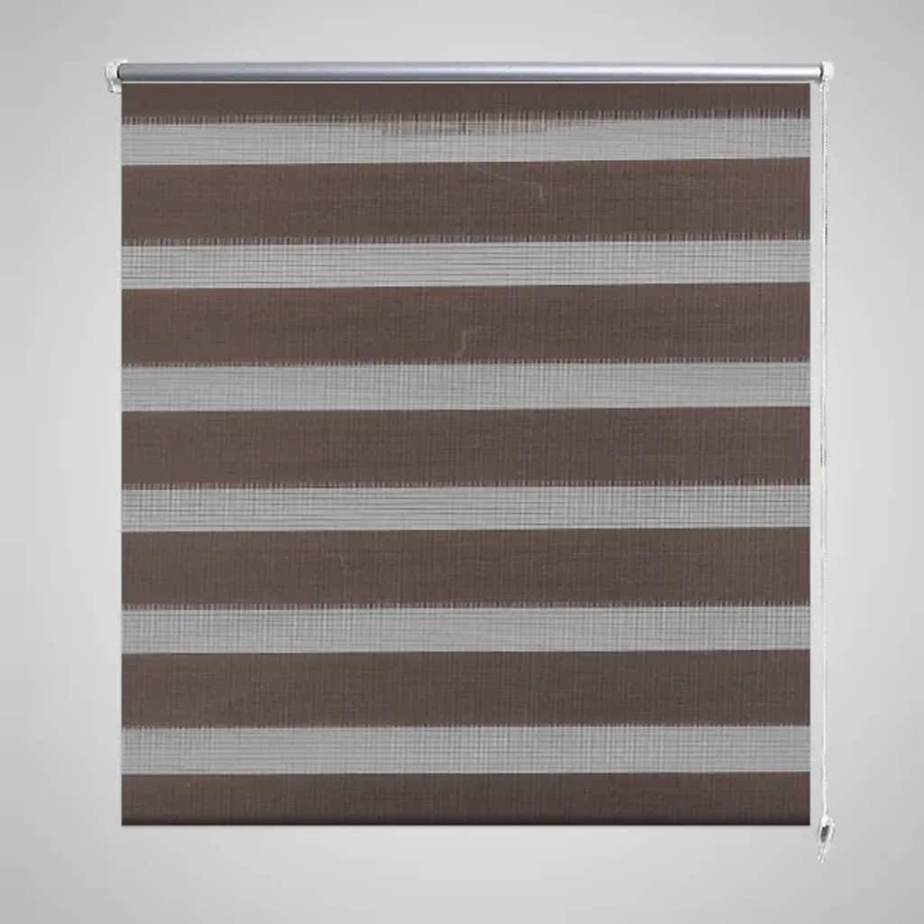 Roleta den a noc / Zebra / Twinroll 80x150 cm kávová