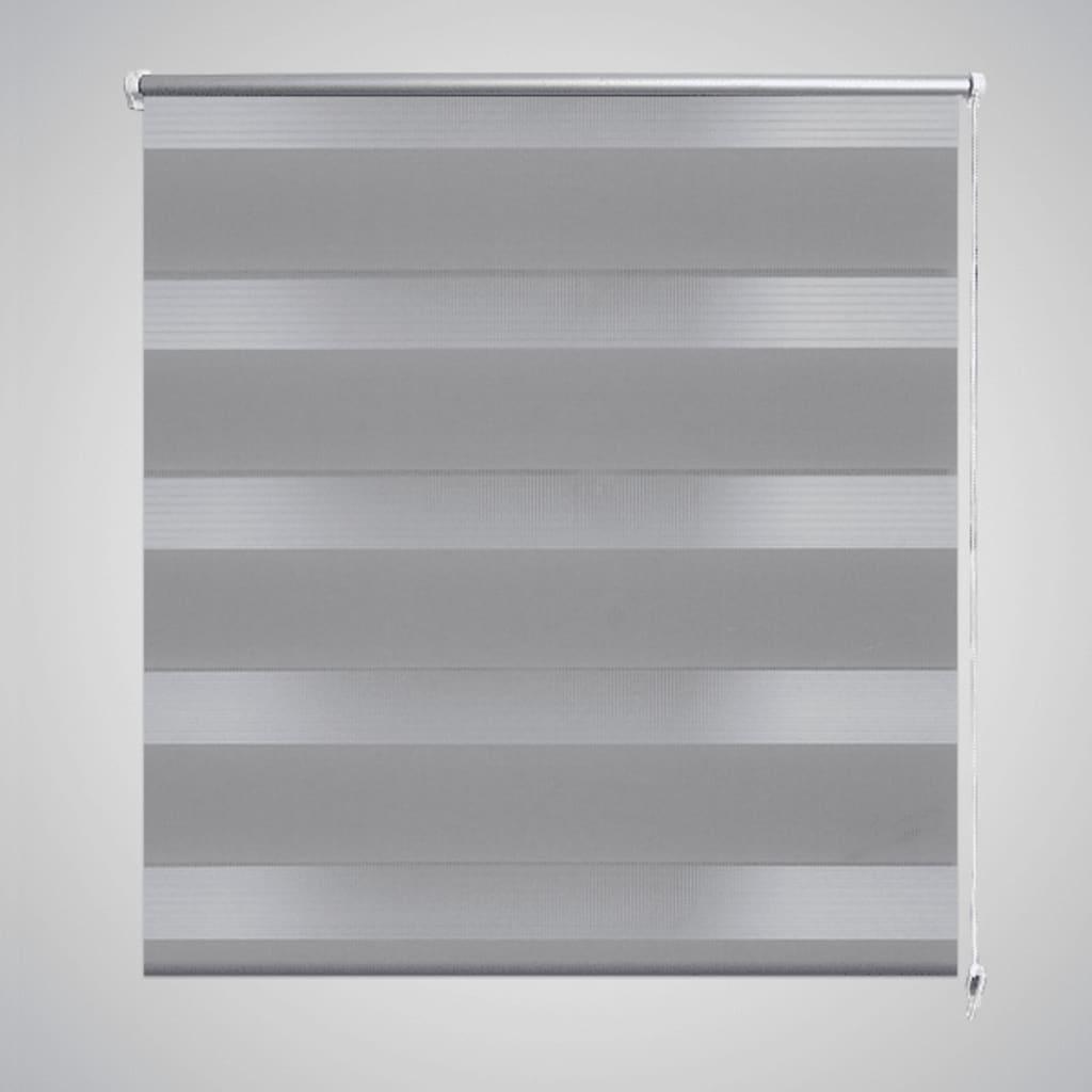 Roleta den a noc / Zebra / Twinroll 80x175 cm šedá