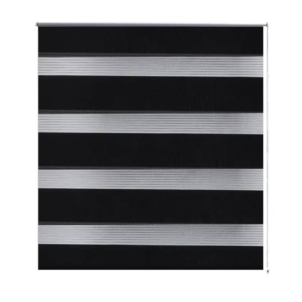 vidaXL Σύστημα Σκίασης Ρόλερ Zebra Μαύρο 80 x 175 εκ.