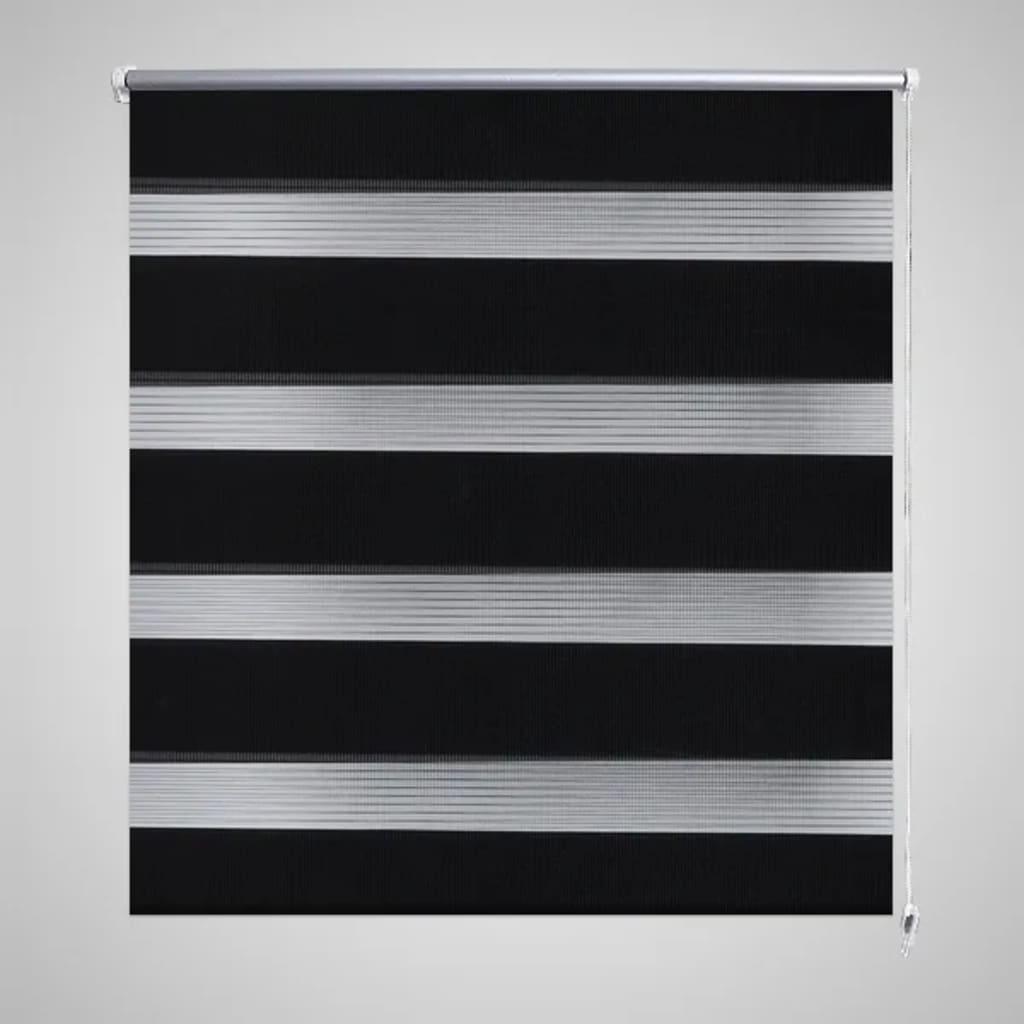 Roleta den a noc / Zebra / Twinroll 80x175 cm černá