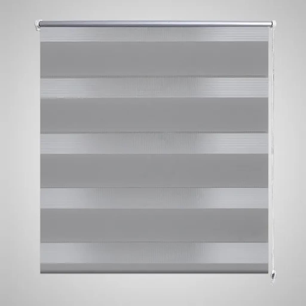 Roleta den a noc / Zebra / Twinroll 90x150 cm šedá