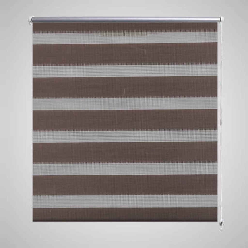 Roleta den a noc / Zebra / Twinroll 90x150 cm kávová