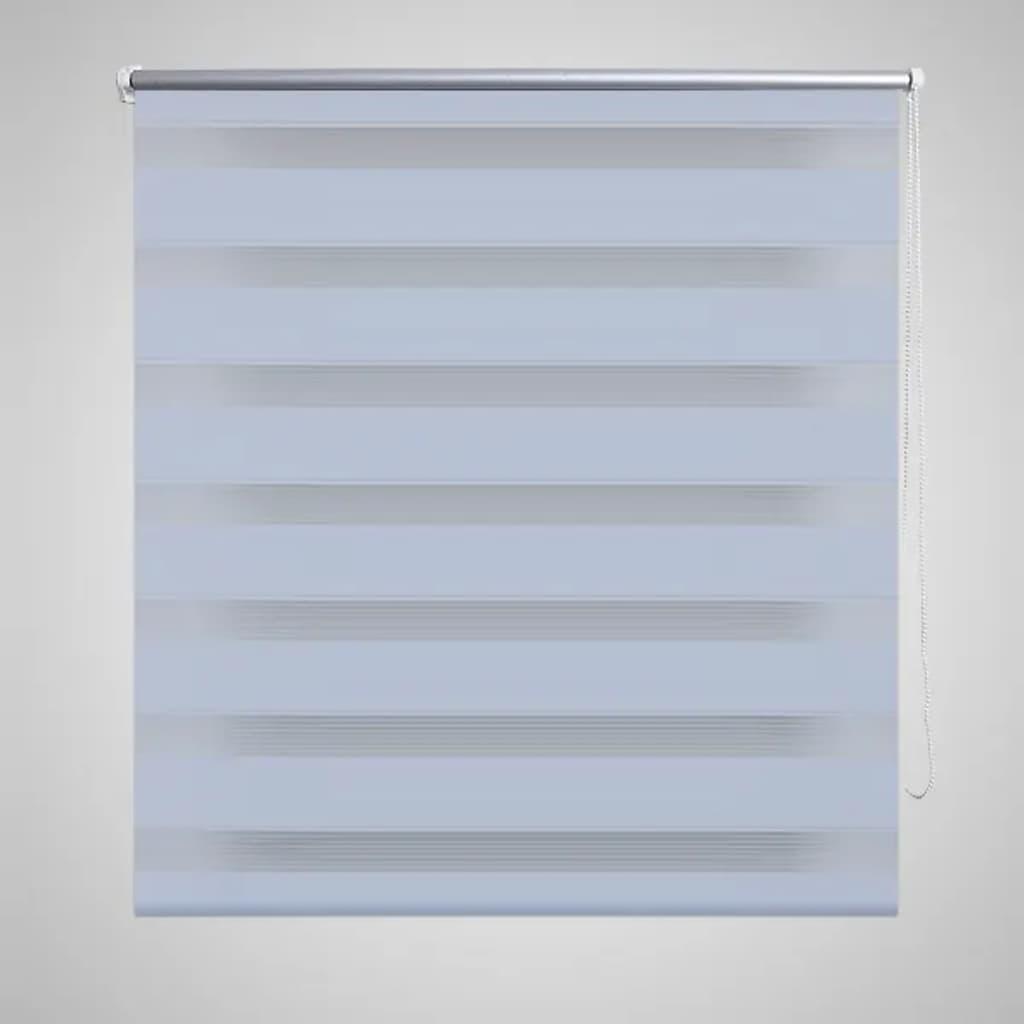 vidaXL Rullegardiner sebramønstret 100 x 175 cm hvit