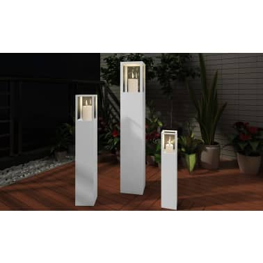Lot de 3 lanterne de bougie de colonne[3/5]