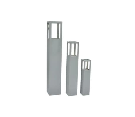 vidaXL Wood Candle Stand Grey[2/4]