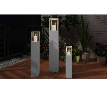 vidaXL Wood Candle Stand Grey[3/4]