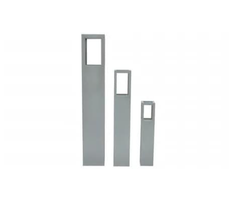 vidaXL Wood Candle Stand Grey[4/4]