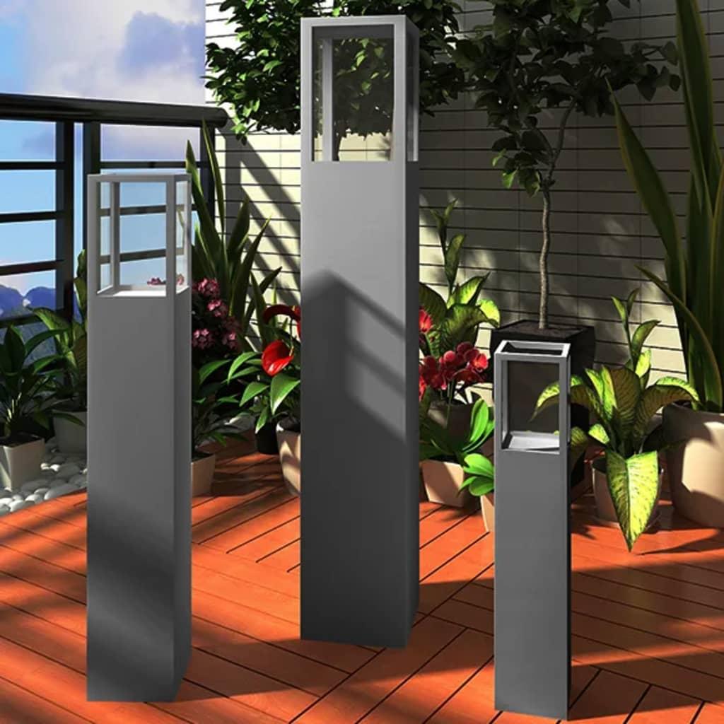 vidaXL Suport lumânare tip sfeșnic din lemn, gri poza 2021 vidaXL