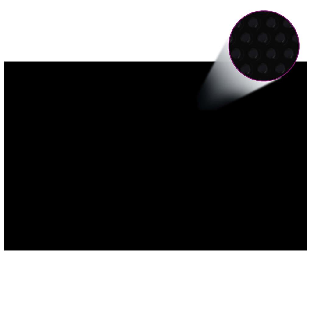 Čtvercový černý bazénový kryt 8x5m