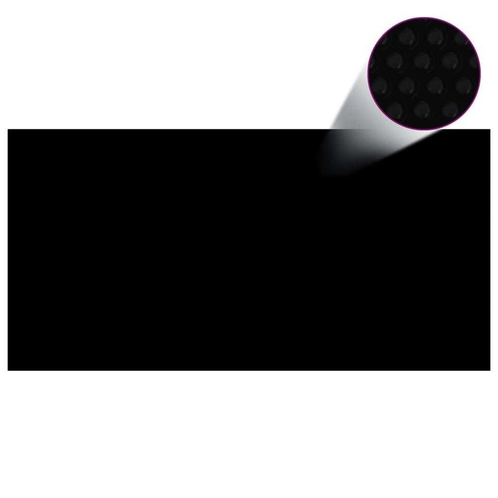 Čtvercový černý bazénový kryt 10x5m