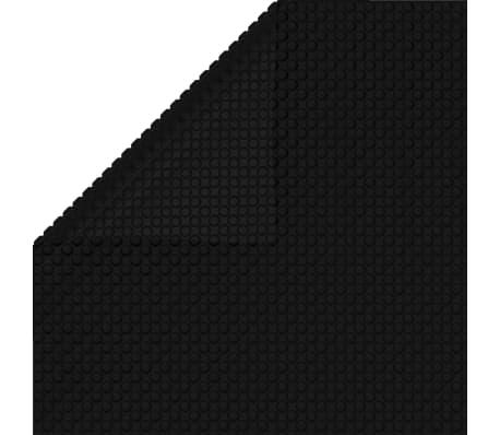 Floating Rectangular PE Solar Pool Film 10 x 5 m Black[3/4]