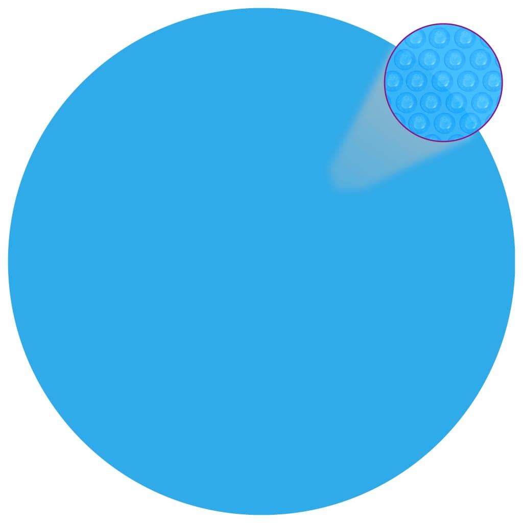 vidaXL Plovoucí kulatý solární PE kryt na bazén 455 cm modrý