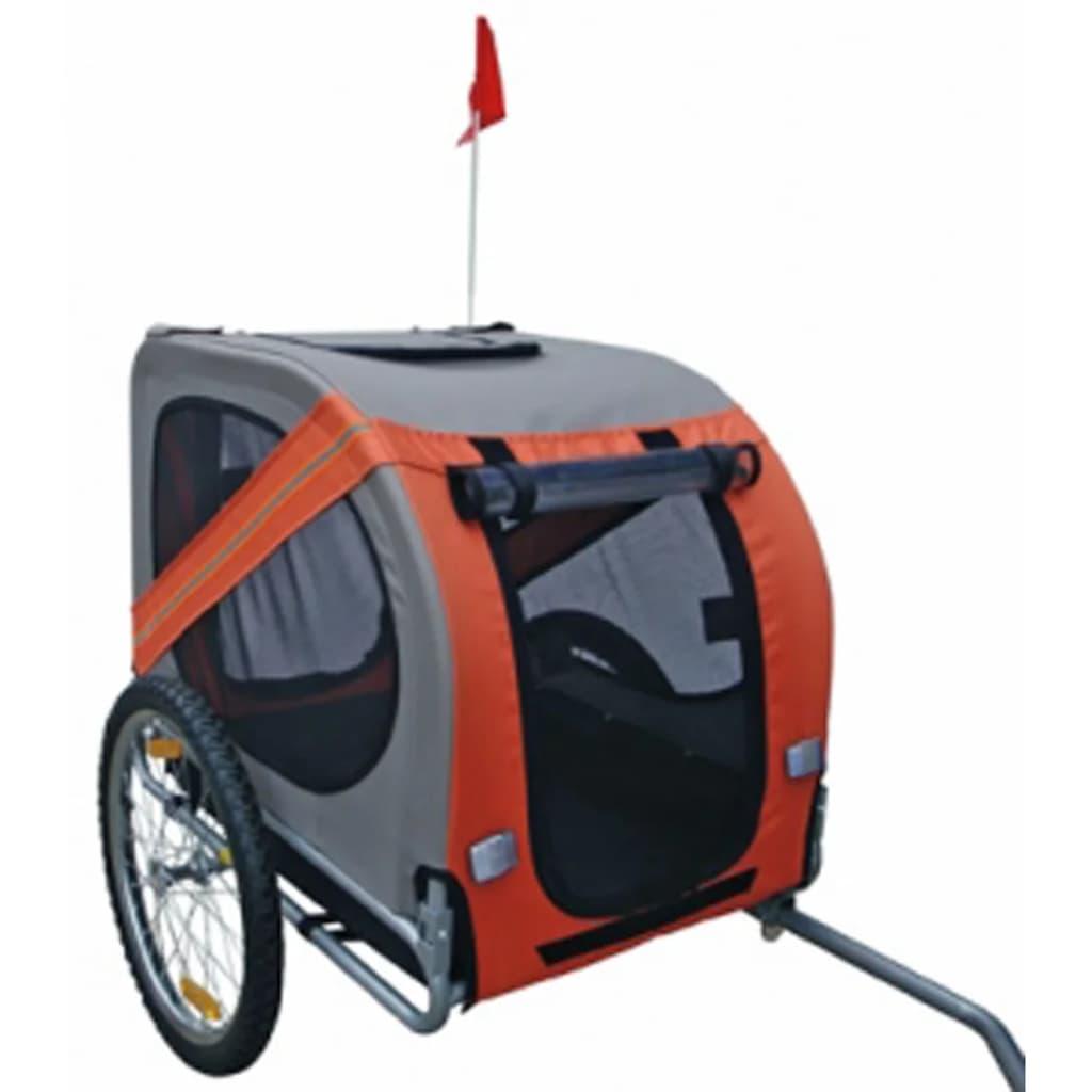 vidaXL Remorcă de bicicletă pentru câini, portocaliu vidaxl.ro
