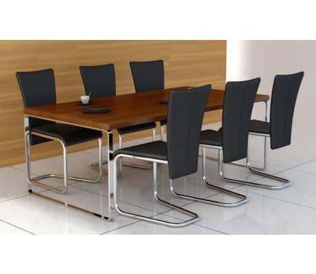 6 st hle stuhlgruppe esszimmerst hle schwarz g nstig kaufen. Black Bedroom Furniture Sets. Home Design Ideas