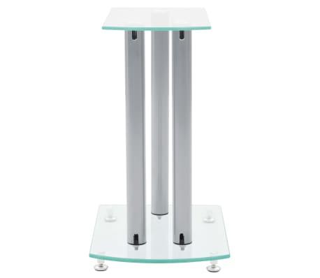 Aluminum Speaker Stands 2 pcs Transparent Safety Glass[4/6]