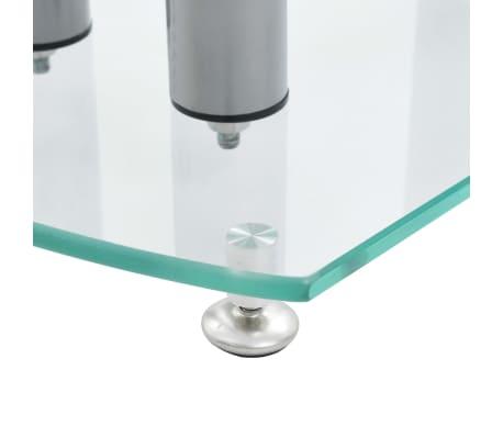 Aluminum Speaker Stands 2 pcs Transparent Safety Glass[5/6]