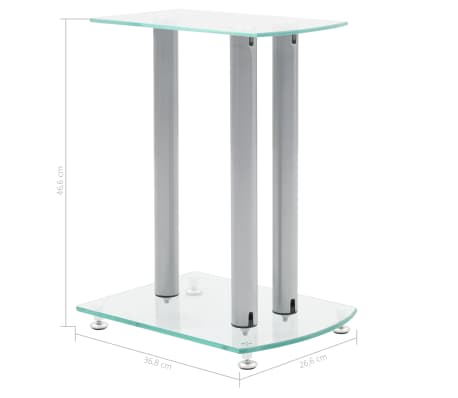 Aluminum Speaker Stands 2 pcs Transparent Safety Glass[6/6]