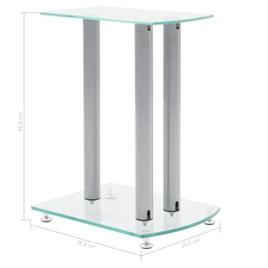 2x Luxus Lautsprecherständer Glas Lautsprecher NEU[6/6]