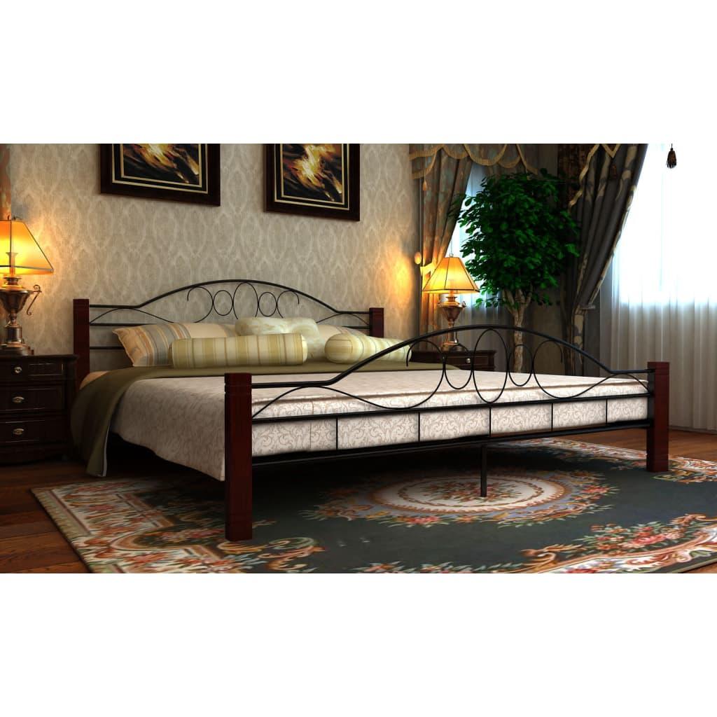 Kovová postel 140 x 200 cm s Matrací.