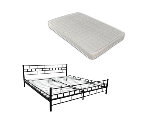 metallbett mit matratze bett 140 x 200 cm zum schn ppchenpreis. Black Bedroom Furniture Sets. Home Design Ideas