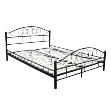 metallbett mit matratze 180 x 200 cm schwarz g nstig kaufen. Black Bedroom Furniture Sets. Home Design Ideas