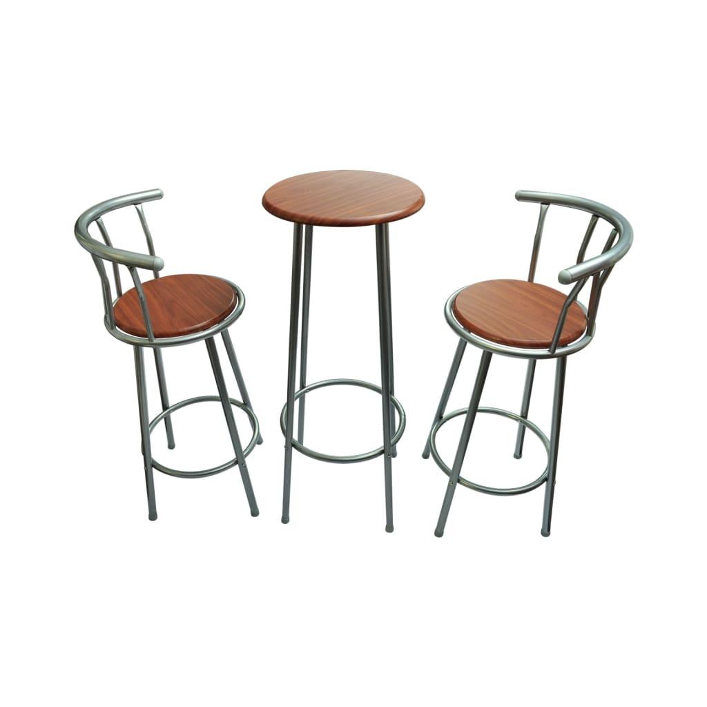 Afbeelding van vidaXL Barkruk set met tafel