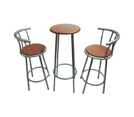 Tavolini da bar multiuso alto in acciaio con 2 sgabelli - Tavolini da bar prezzi ...