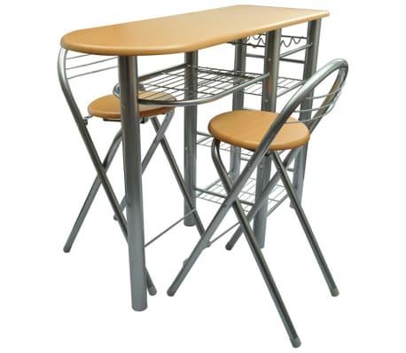 Küchenbar mit 2 Stühlen günstig kaufen | vidaXL.de
