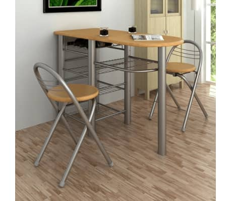 Kitchen/Breakfast Bar/Table and Chairs Set Wood[2/6]