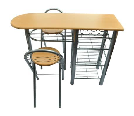 Tavolo da cucina con sedie set in legno | vidaXL.it