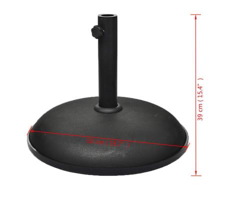 vidaXL Umbrella Base 66.14 lb Black Steel and Cement[3/4]