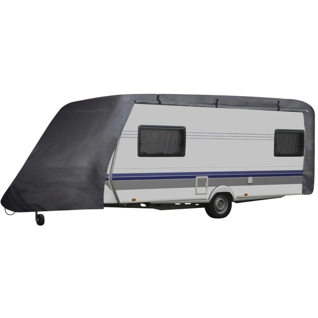 Plachta na karavan - velikost S - šedá