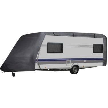 vidaXL Funda para caravana gris M[1/6]
