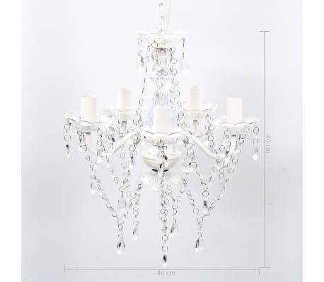 vidaXL Lámpara de araña de cristal 5 bombillas transparente[9/11]