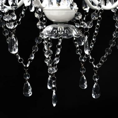 vidaXL Lámpara de araña de cristal 5 bombillas transparente[6/11]