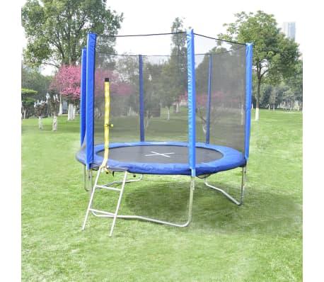 acheter trampoline 10 filet chelle b che de protection inclus pas cher. Black Bedroom Furniture Sets. Home Design Ideas