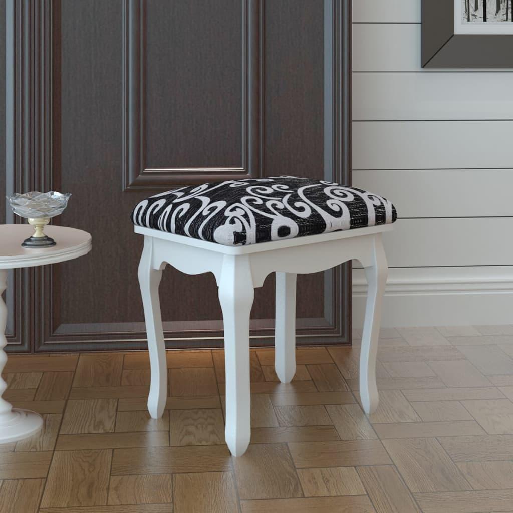 vidaXL Taburet pentru dressing, negru, material textil poza vidaxl.ro