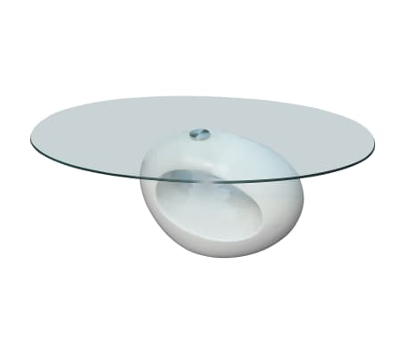 Acheter vidaxl table basse avec dessus de table en verre - Table basse de salon en verre ovale ...